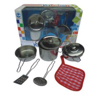 Bộ đồ chơi nấu ăn inox cho bé