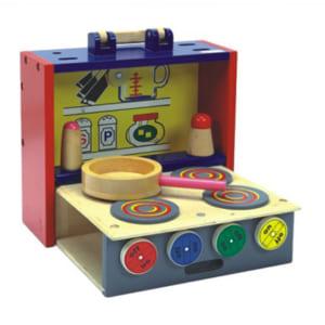 Đồ chơi 4 bếp nấu cho bé bằng gỗ