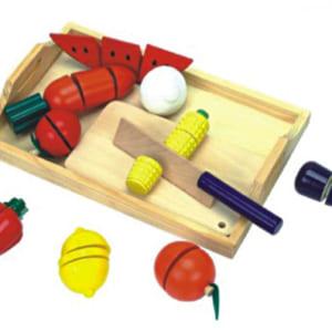 Đồ chơi cắt hoa quả bằng gỗ