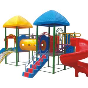 Khu liên hoàn 3 khối cầu trượt xoắn cho trẻ