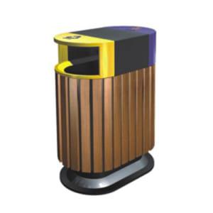 Thùng rác gỗ 2 ngăn giá rẻ