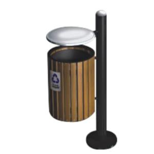Thùng đựng rác gỗ treo đơn