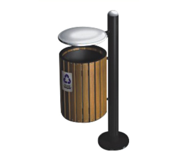 Thùng rác gỗ treo đơn