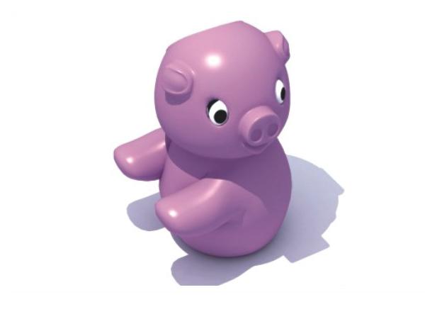Thùng rác nhựa hình con lợn