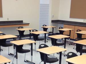Bàn ghế phòng học hiện đại