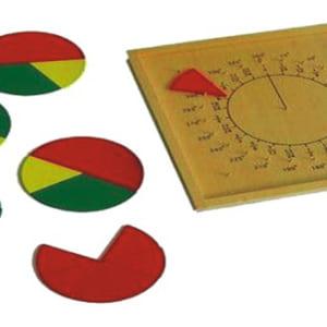 Bảng phân số hình học mầm non