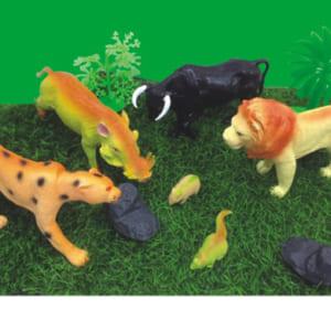 Bộ đồ chơi con thú trong rừng bằng nhựa