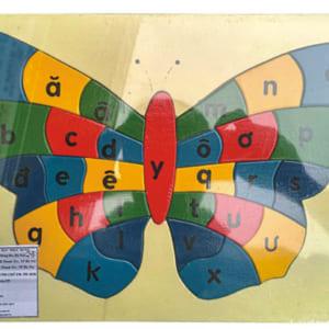 Bộ ghép hình con bướm học chữ