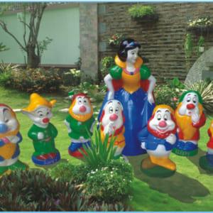 Bộ tượng nàng Bạch Tuyết và bảy chú lùn