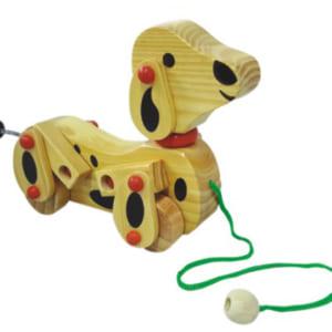 Dây kéo chó bằng gỗ