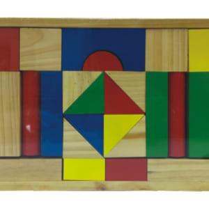 Đồ chơi xếp hình xây dựng 40 chi tiết gỗ