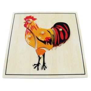 Ghép hình con gà trống