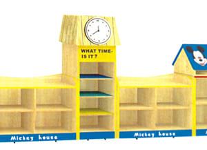 Giá đồ chơi 5 khối ngôi nhà