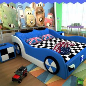 Giường ngủ hình ô tô cho bé trai
