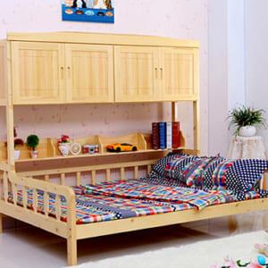 Giường sofa gỗ tự nhiên