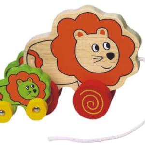 Mẹ con sư tử kéo dây