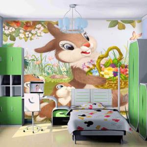 Vẽ tường trang trí phòng bé
