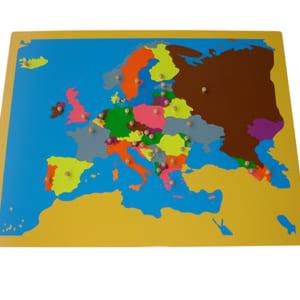Bản đồ châu Âu không khung