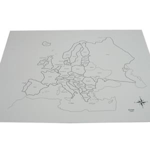 Bản đồ Châu Âu không màu