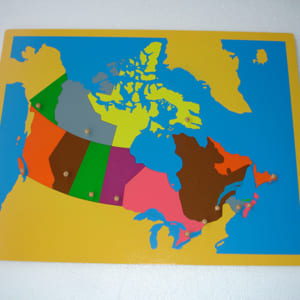 Bản đồ ghép hình Canada không khung