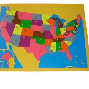 Bản đồ ghép hình nước Mỹ không có khung