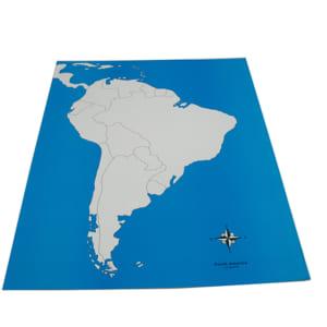 Bản đồ khu vực Nam Mỹ không có tên các nước
