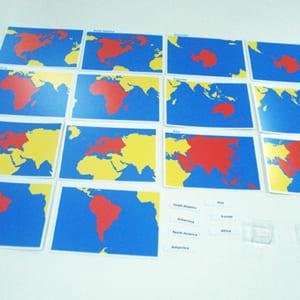 Bộ thẻ các phần của thế giới