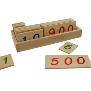 Các thẻ số từ 1 đến 1000 cỡ nhỏ