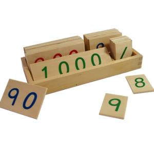 Các thẻ số từ 1 đến 3000 cỡ nhỏ