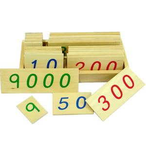 thẻ số từ 1 đến 9000 cỡ nhỏ