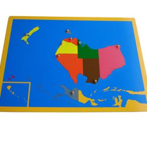 Ghép hình bản đồ châu Úc