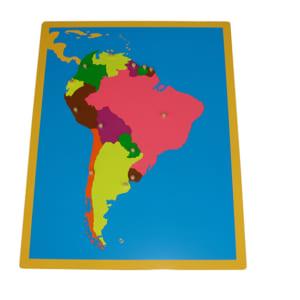 Ghép hình bản đồ Nam Mỹ không khung