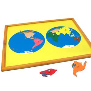Ghép hình bản đồ thế giới cỡ nhỏ