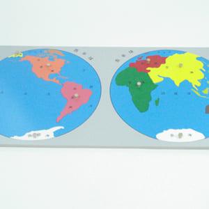 Bộ ghép hình bản đồ thế giới không khung