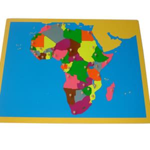 Bản đồ ghép hình châu Phi không khung
