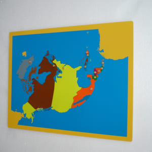 Ghép hình khu vực Bắc Mỹ không khung