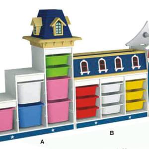 Giá để đồ chơi hình ngôi nhà