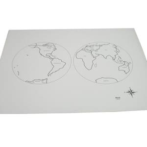 Mô hình bản đồ thế giới ghi rõ tên các châu lục