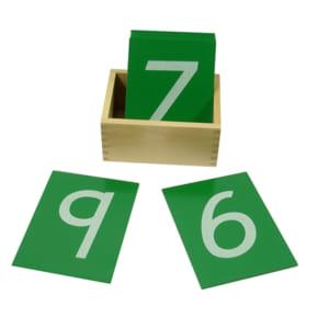 Thẻ số từ 0 đến 9 in nhám